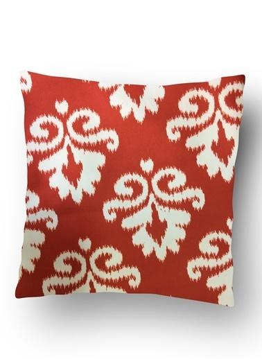 Lyn Home & Decor Kırmızı İkat Yastık Kılıfı Renkli